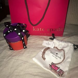 Kate Spade Pink Cadillac necklace